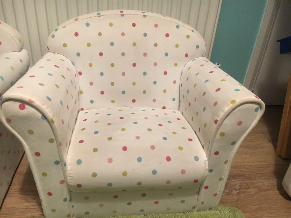 Cream Polka Dot Dunelm Children S Armchairs In Leicester