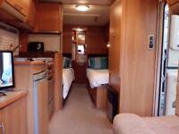 Swift conqueror 655 lux touring caravan