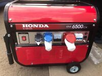 Honda generators brand new