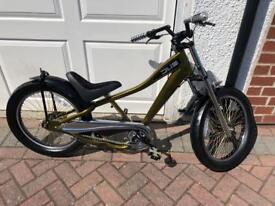 Giant, Child's DUB bike, chopper style, gold and black.