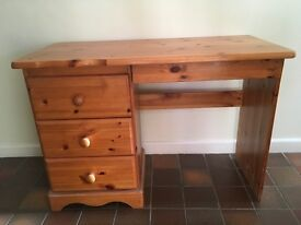 Pine Dressing Table (with stool)