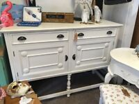 Large vintage sideboard painted in off white