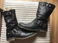 Leather women bikers boots 7UK