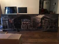 Massive 3.8 x 1 meter satin print on thick mounting board.