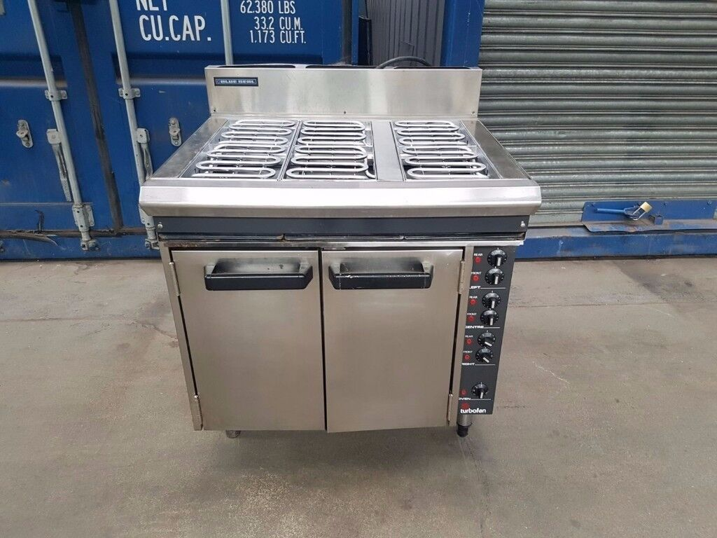 Blue Seal E56D Electric Cooker 6 hobs oven range fan assisted oven heavy duty 3h