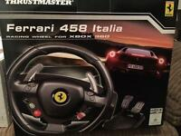 Xbox360 Ferrari steering wheel.