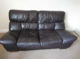 Black leather sofa - urgent