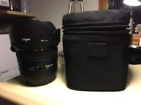 Sigma lens 50mm 1.4 for Canon