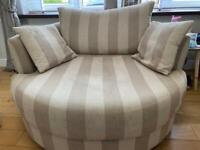 Next striped snuggle chair