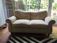 Lovely comfy cream/beige sofa.