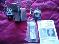 PANASONIC TWIN CORDLESS DIGITAL PHONES WITH ANSWER MACHINE