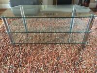 Glass/Chrome TV Stand