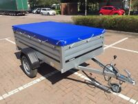 car box trailer camping THULE Brenderup 1205XL and flat cover