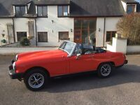 1979 MG Midget 1500 Red 44,000 miles MOT until April 2017- ready to go!