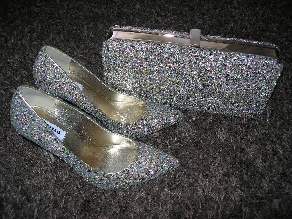 d967a1fa4c3 DUNE Multi-Glitter Bag & Shoes (size 5/38) | in Southampton, Hampshire |  Gumtree
