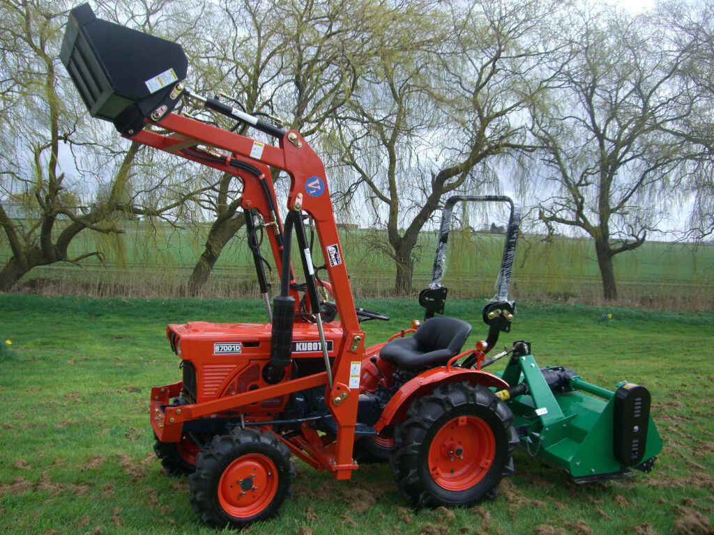 Kubota Compact Mini Tractor With Loader And Flail Mower In Dudley