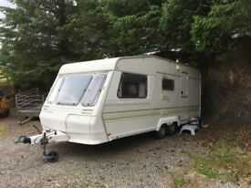 Caravan, twin axle, galvanized chassis