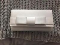 White/ivory satin clutch bag (Debenhams)