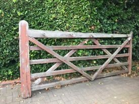Solid wood farm gate with built bolt and ring ready to hang
