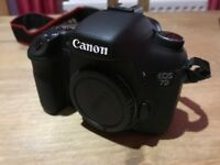 CANON 7D CAMERA BODY + 3 OPTIONAL LENSES + READ DISCRIPTION