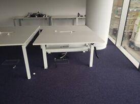 2-pod sit-stand height adjustable desks/tables office desks Free delivery on orders over £70*