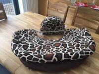 Nursing pillow with matching cover