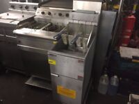NEW GAS FRYER CATERING COMMERCIAL CAFE CHICKEN KEBAB RESTAURANT KITCHEN FAST FOOD TAKE AWAY SHOP