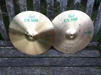 "Wokingham Drum Sales - Pearl CX500 14"" Hi Hat Cymbals"