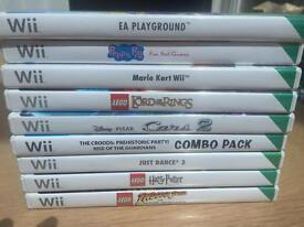 Wii games. See description for individual prices