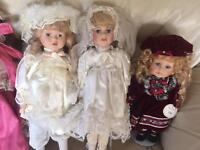 10 porcelain dolls, from smoke free home.