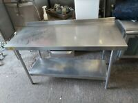 Bartlett Commercial stainless steal table worktop kitchen table work bench 1.5m