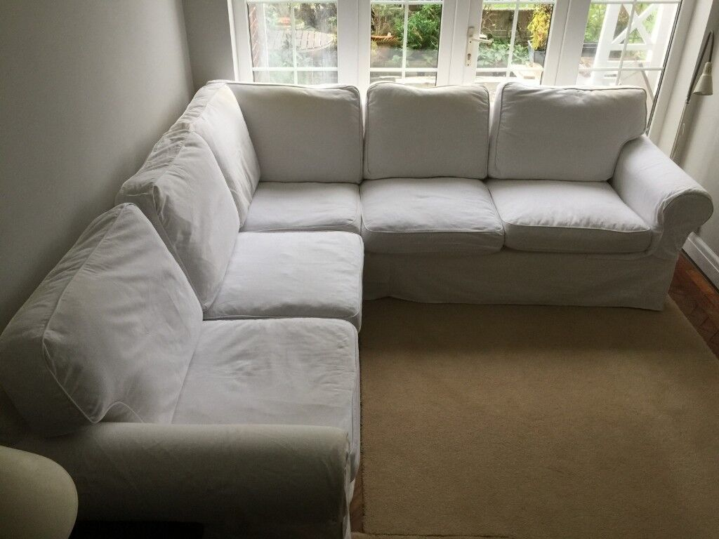 new product 951b7 96104 IKEA EKTORP Corner Sofa 4 Seat with White Covers | in Addlestone, Surrey |  Gumtree