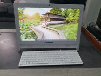 Lenovo All-In-One Desktop PC. Windows 10. Microsoft Office. White. 4GB, 1TB