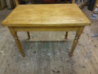 Pine dinning table with drawer