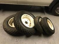 Compact tractor full set of tyres