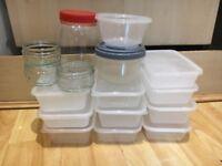 Free kitchen tuppaware storage