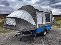 OPUS Folding Camper - Full Monty Package - 6 berth camper with heater, awning, sun canopy