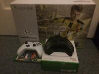 Xbox one S with 2 Controllers and 2 games