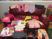 20 clothes for baby girl ( 18-24 month) + 3 pair of shoes