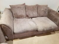 2 seater mid grey sofa