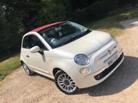 Fiat 500c Convertible Pearl white 21k miles