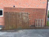 Assorted building materials - bricks and raft metals