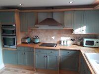 Kitchen units plus oven and hob