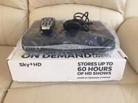 Sky plus + hd box hard drive with remote and power lead / cable