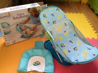 Summer Infant Deluxe Blue Baby Bather Brand New