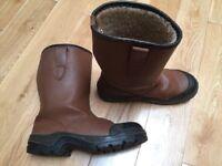 VGC Unisex Fleece Lined Safety Rigger Boots (UK Size 6 / EU 39)
