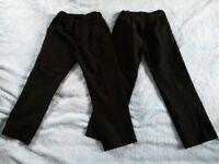Black boys school uniform trousers for 6-7 year old