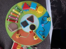 Baby walker and activity table WOODEN