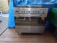 baumatic duel fuel 5 burner cooker 90 cm