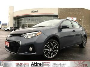 2015 Toyota Corolla S Tech Pkg Navigation, Moonroof, Heated Seat